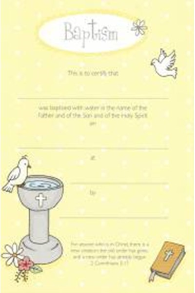 Baptism Certificate (Child)