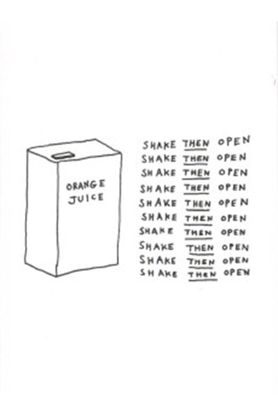 Dave Walker Card: Orange Juice