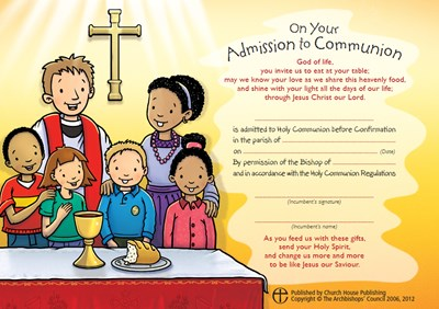 Admission to Communion Certificates (pack of 10)