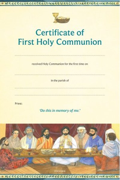 Certificate of First Holy Communion CFHC
