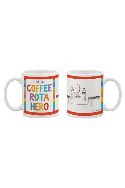 Dave Walker Mug 'I'm a Coffee Rota Hero'