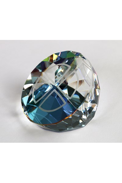 Paperweight (diamond cut with orb)