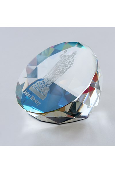 Paperweight (diamond cut with John Wesley preaching)