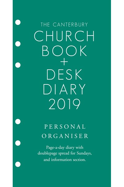 Canterbury Church Book & Desk Diary 2019 Personal Organiser Edition