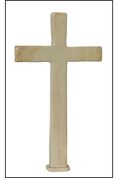 Standing Natural Soapstone Cross - large, 20 cm