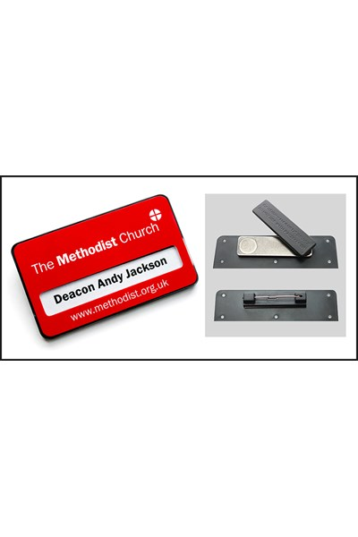 Methodist Name Badge - magnetic fastening
