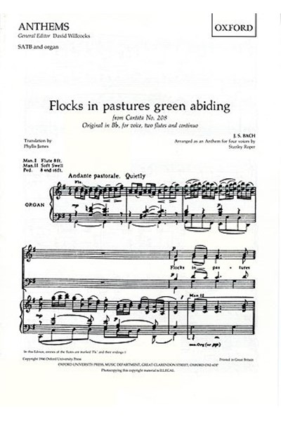 Bach: Flocks in Pastures Green