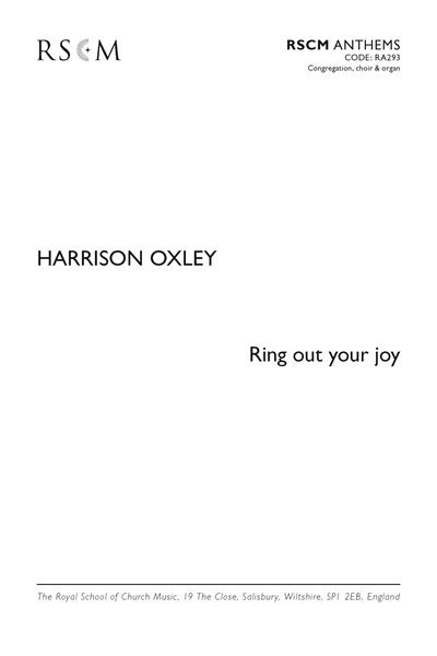 Oxley: Ring out your joy