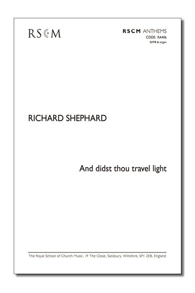 Shephard: And didst thou travel light