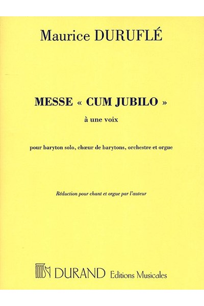 Durufle: Messe Cum Jubilo (Vocal score)