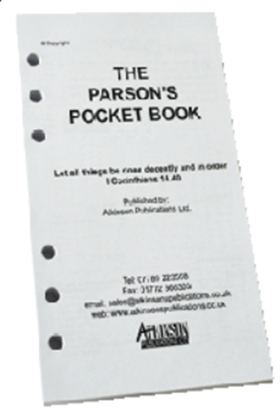The Parson's Pocket Book Loose Leaf 2020 Clerical Diary : A Diary for Church of England Clergy - a loose leaf version of the diary portion of 'The Parson's Pocket Book'