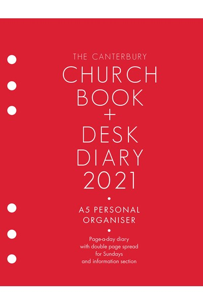 Canterbury Church Book & Desk Diary 2021 A5 Personal Organiser Edition