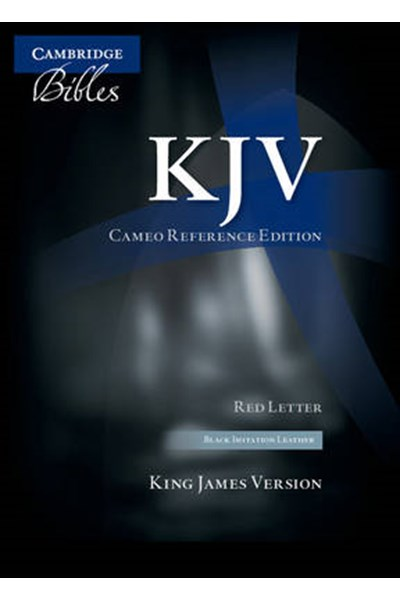 KJV Cameo Reference Edition KJ452:XR Black Imitation Leather