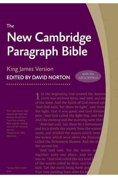 New Cambridge Paragraph Bible with Apocrypha KJ595:TA Black Calfskin