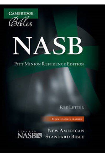 NASB Pitt Minion Reference Bible, Black Goatskin Leather, Red Letter Text NS446:XR