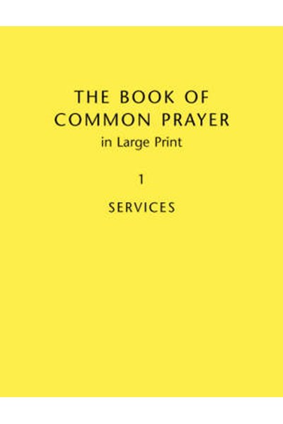 Book Of Common Prayer Large Print BCP481: Volume 1