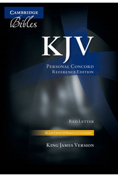 KJV Personal Concord Reference Edition KJ463:XR Black French Morocco