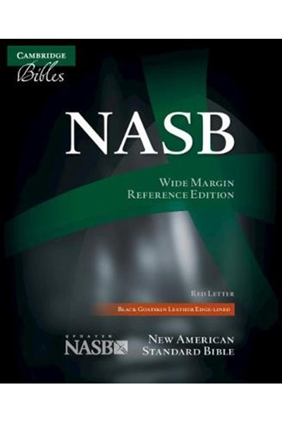 NASB Wide Margin Reference Bible, Black Edge-lined Goatskin Leather, Red Letter Text NS746:XRME