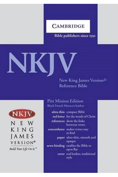 NKJV Pitt Minion Reference Edition NK446:XR Black Goatskin Leather