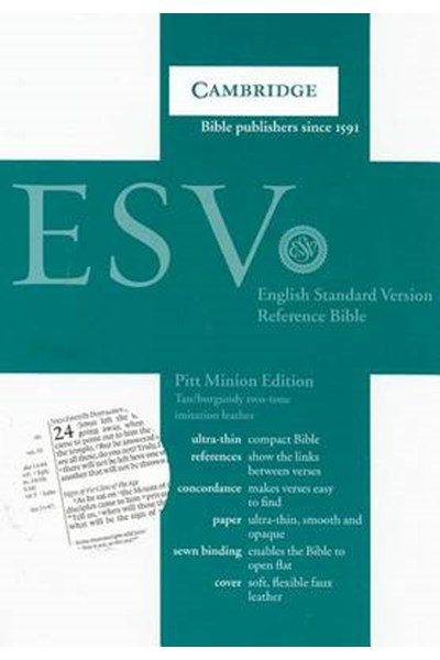 ESV Pitt Minion Reference Edition ES442:X Tan Imitation Leather