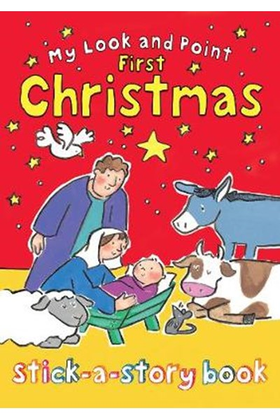 My Look and Point First Christmas Stick-a-Story Book