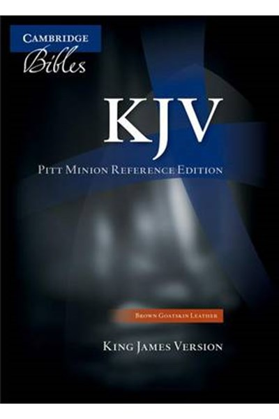 KJV Pitt Minion Reference Edition KJ446:X brown goatskin