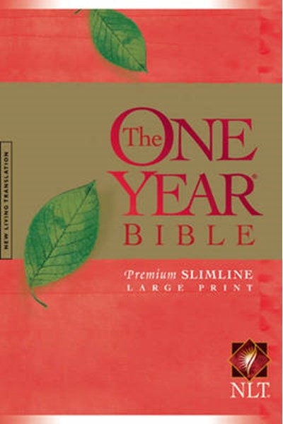 One Year Premium Slimline Bible-NLT-Large Print 10th Anniversary