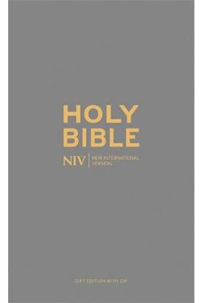 NIV Pocket Charcoal Soft-tone Bible with Zip