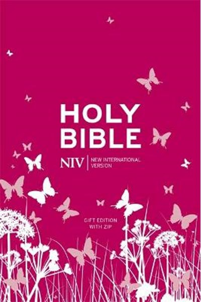 NIV Tiny Pink Soft-Tone Bible with Zip