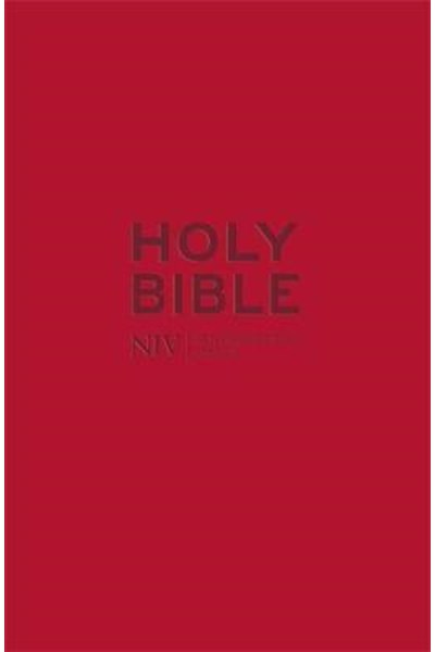 NIV Pocket Red Soft-Tone Bible with Zip
