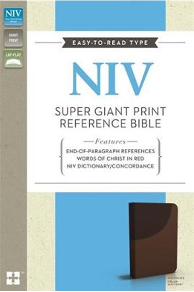 NIV Super Giant Print Reference Bible Chocolate Imitation Leather