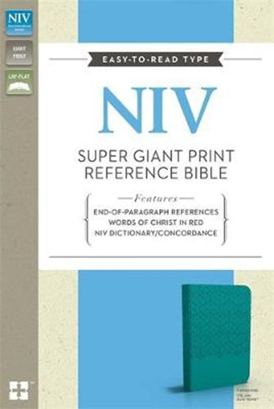 NIV Super Giant Print Reference Bible Turquoise Imitation Leather