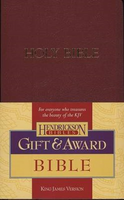 KJV Gift and Award Bible - Burgundy