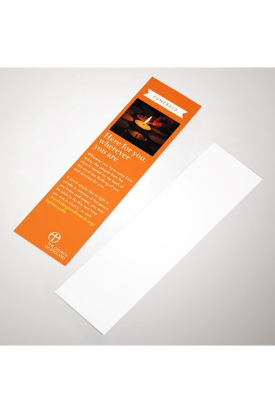 Funerals Guest Bookmark (pack of 50)