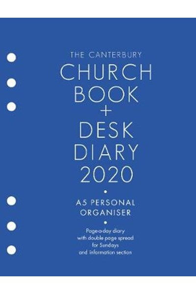 Canterbury Church Book & Desk Diary 2020 A5 Personal Organiser Edition