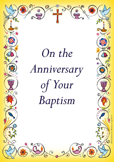 Anniversary of Baptism Card BC1