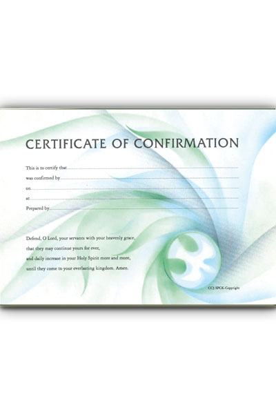 Certificate of baptism b151 pack of 20 certificate of confirmation yadclub Choice Image