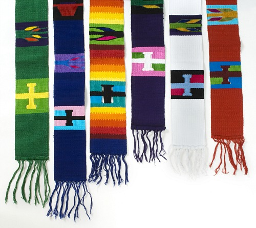 Hand-woven Clergy Stole: Green