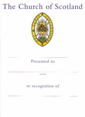 CO06 Recognition of Service Certificate