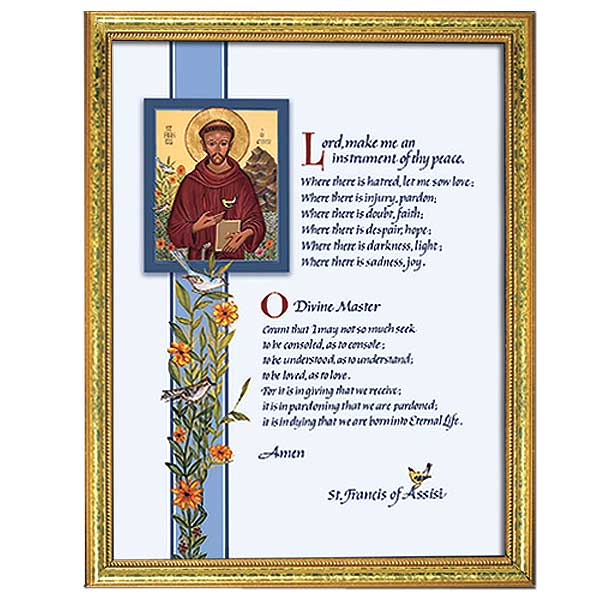 Framed print: Prayer of St Francis