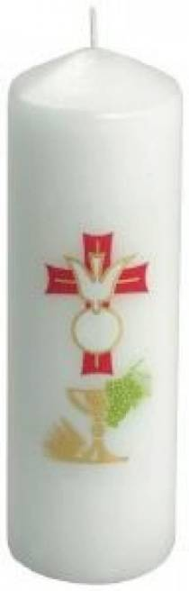 "Confirmation/First Communion Candle (5¾"" x 2¼"") in Transparent Case"